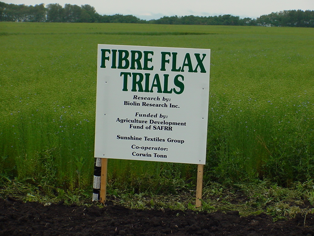 fiber flax field trials